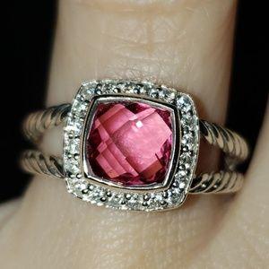 David Yurman Petite Albion Ring Pink Tourmalin